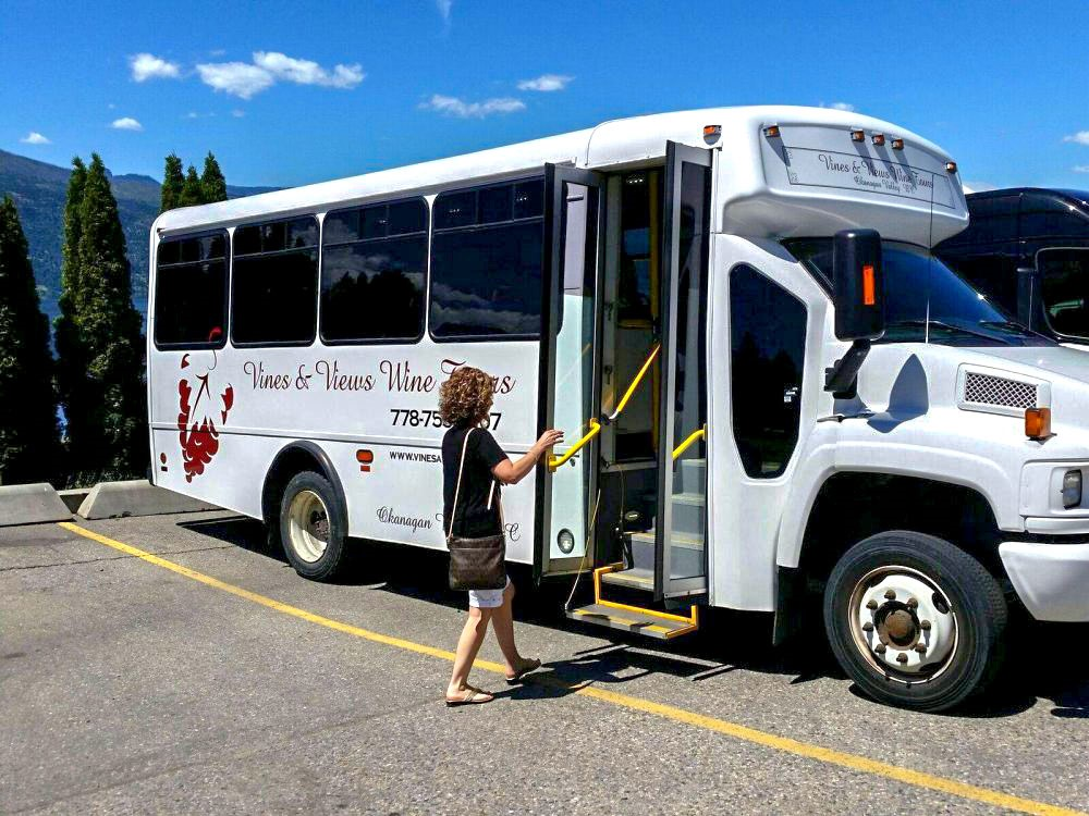 Vines and Views Wine Tours Bus